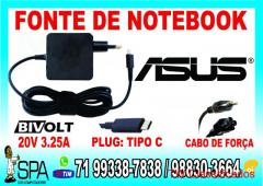 Carregador Notebook Ultrabook Tablet Usb-C HP 20V 3.25A Plug Tipo C em Salvador Ba